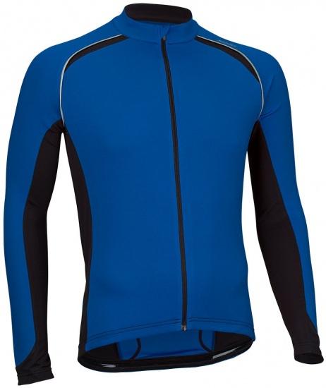 Avento Fietsshirt lange mouw heren blauw/zwart/wit maat XXL