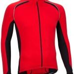 Avento Fietsshirt lange mouw heren rood/zwart/wit maat L