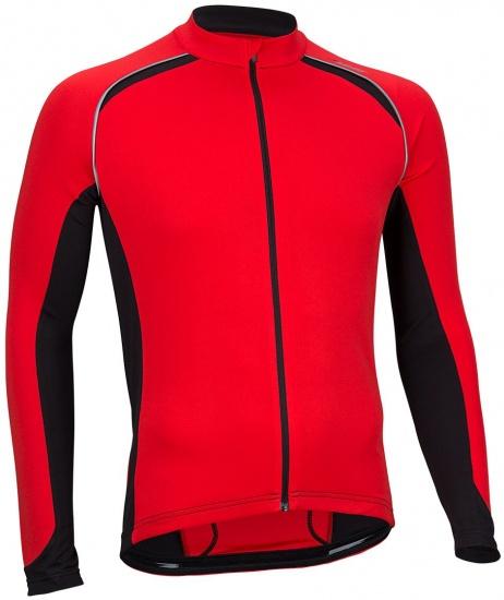 Avento Fietsshirt lange mouw heren rood/zwart/wit maat XL
