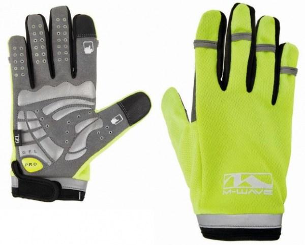 M-Wave Handschoenen Gel Secure Touchscreen geel maat S