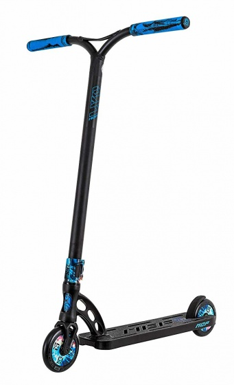MGP stuntstep VX9 Extreme Proton Junior Voetrem Zwart/Blauw
