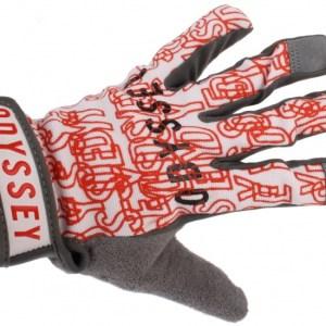Odyssey handschoenen BMX unisex grijs/rood maat 7