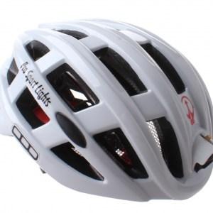 Pro Sport Lights fietshelm met verlichting unisex wit mt 49-59
