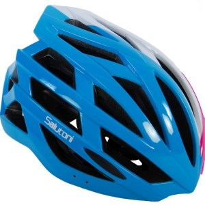 Salutoni fietshelm unisex 54-58 cm blauw/roze/wit