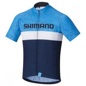 Shimano fietsshirt Team junior navy maat 128