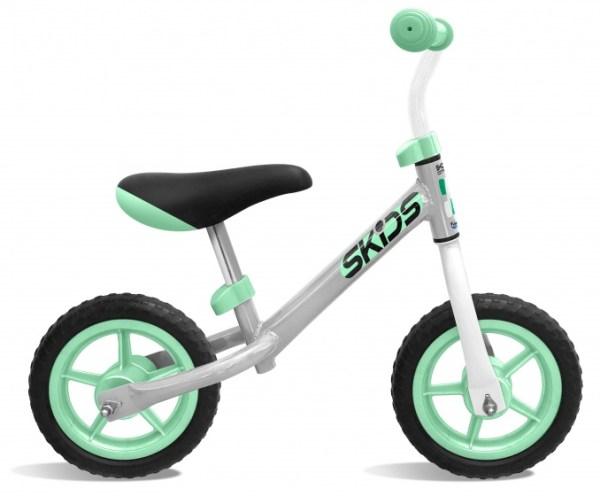 Skids Control loopfiets 10 Inch Junior Grijs/Turquoise