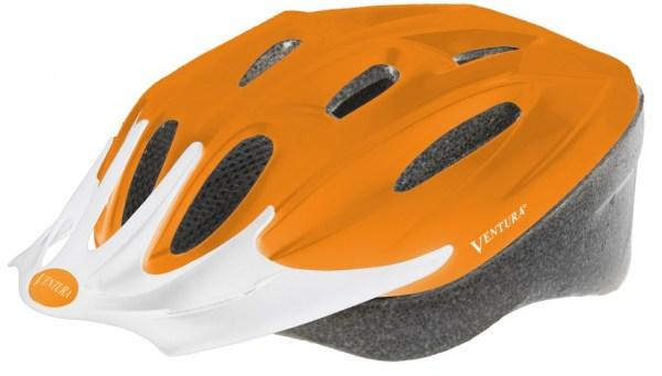 Ventura Fietshelm Met Visier Mat Oranje Maat 53 - 57 cm