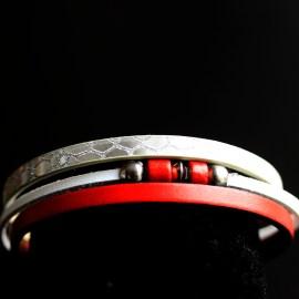 Brățări Roșu cu Alb