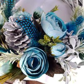 Crăciun Turquoise - Coroniţă decor 30 cm