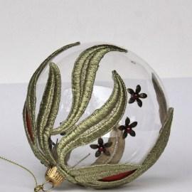 Decorațiuni Crăciun - glob sticlă auriu și roșu