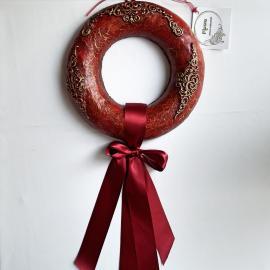 Coroniţă roşie model baroque 30 cm