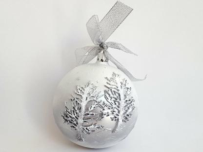 Ornament Brad Crăciun. Glob sticlă 10 cm