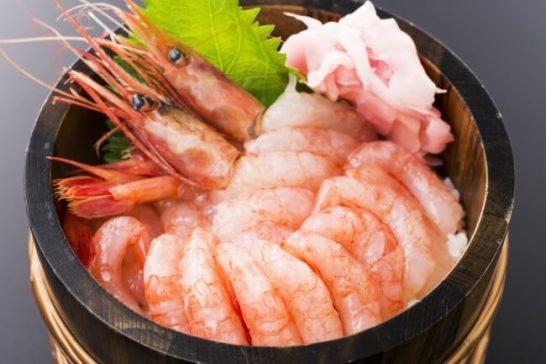 増毛産甘海老大漁丼<数量限定販売>1,204円