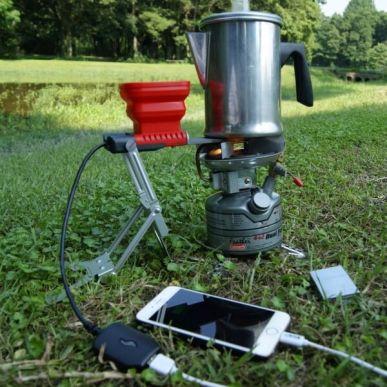 火と水で発電できるUSB充電器 - 水を入れる - 使い方