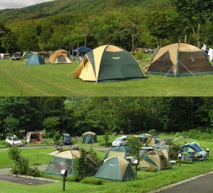 月山弓張平オートキャンプ場 - テントサイトとオートサイト