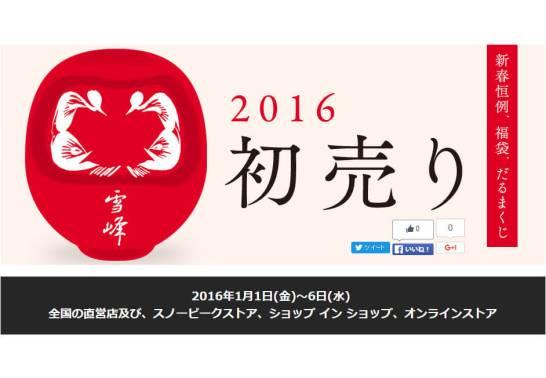 スノーピーク 2016 年初売り福袋 / 福箱の販売