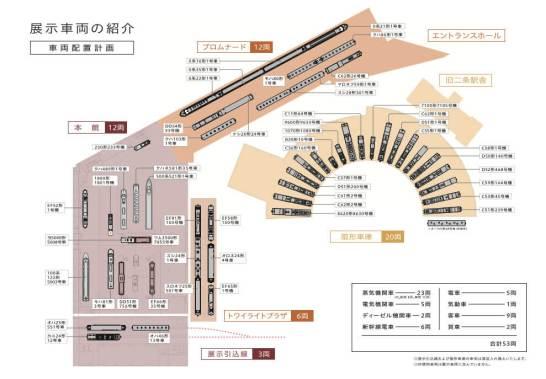 展示車両配置図 - 京都鉄道博物館