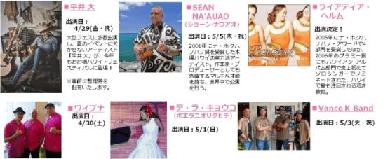 お台場ハワイ・フェスティバル 2016 - イベントの内容