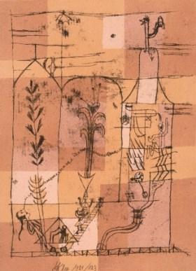 パウル・クレー《ホフマン的な場面》 1921年  富士ゼロックス版画コレクション