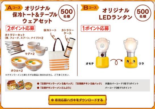 オリジナル保冷トート&テーブルウエアセット / ひよこランタン