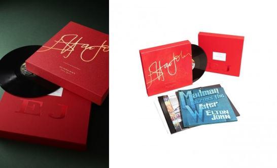 バーバリーが、エルトン・ジョンの限定 LP ボックス・セットを販売