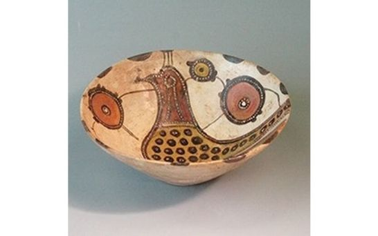 干支展示:鳥文陶器