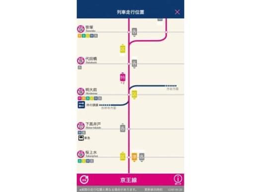 京王線・井の頭線で列車の位置がわかる!