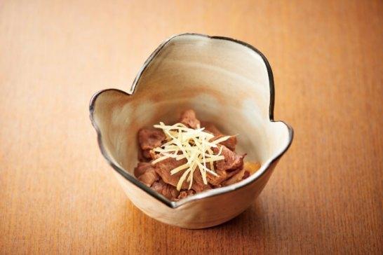 ▲千葉県産猪肉を使用した「猪の時雨煮」