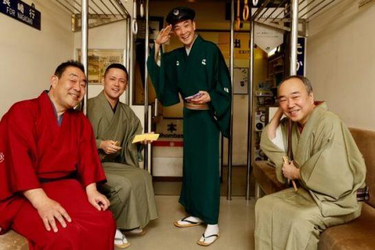 (写真左から) 桂梅團治さん 桂しん吉さん 古今亭駒次さん 柳家小ゑんさん