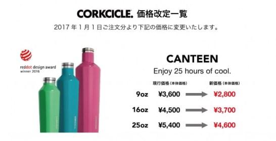 コークシクル・キャンティーン - 価格改定