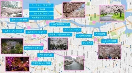約10の桜名所×17のお祭り・魅力スポットが、運河で結ばれる!