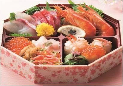 〈北辰鮨〉桜弁当 1,980円/地下1階