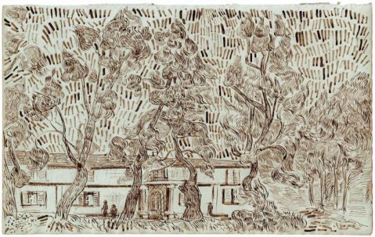 ▲『サン=レミ療養院の庭の松の木Ⅱ』