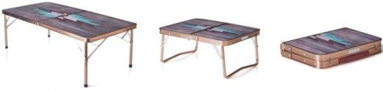 IL リビングテーブル/120プラス(モザイクウッド) / IL ミニテーブルプラス(モザイクウッド)