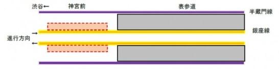 神宮前駅ライトアップ位置詳細