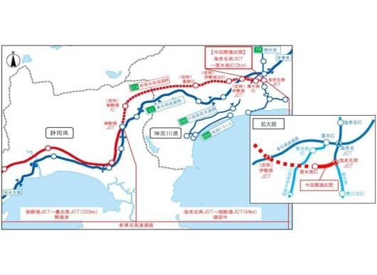 E1A 新東名高速道路 位置図