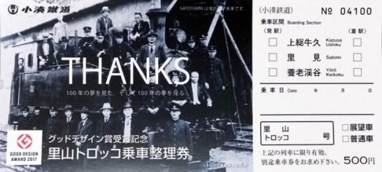 グッドデザイン賞受賞記念・トロッコ列車乗車整理券発売  - 小湊鐡道