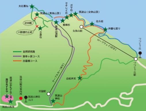 スタンプラリー コースマップ(★はチェックイン対象の場所)