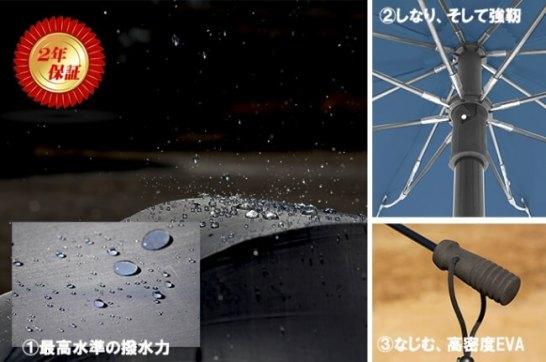 ユーロシルムのハンドフリー雨具、3つ(+α)の特徴