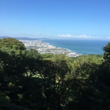 石垣山城から見た小田原城方面