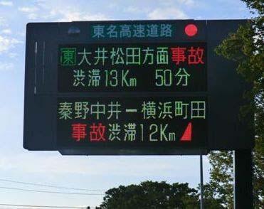 道路情報板での渋滞延伸情報の提供