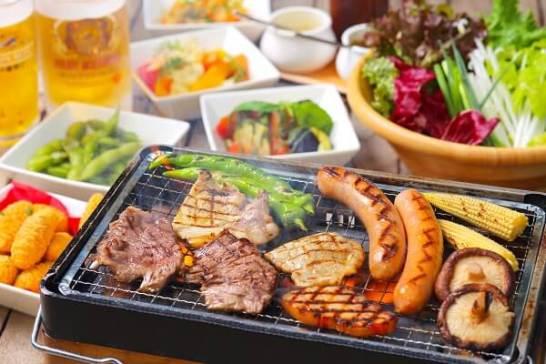 十番館BBQコース 全11品 4,980円【2時間飲み放題付】