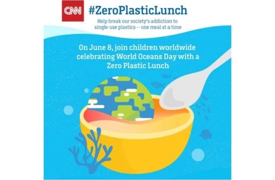 CNN #ZeroPlasticLunch(ゼロプラスチックランチ)キャンペーン始動