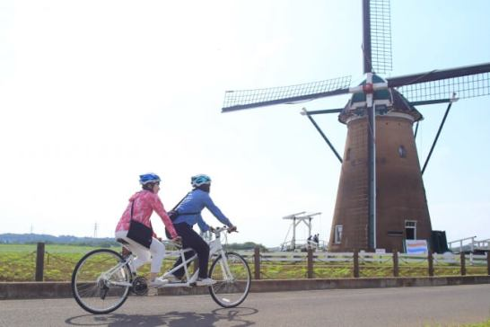 千葉県内初!佐倉市でタンデム自転車の本格的なレンタサイクルを7月から開始