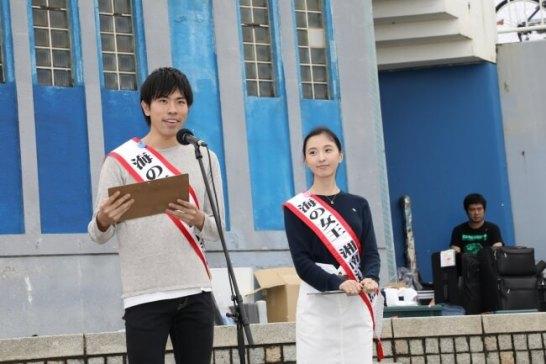 海の女王(右)&海の王子(左)開会式でのご挨拶(昨年度)