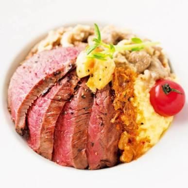 【札幌】金獅子のヤキニク/十勝若牛のステーキ丼 川島旅館うにバターのせ