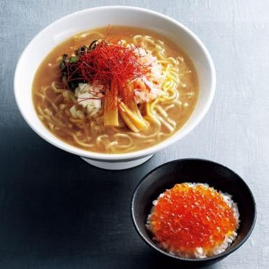 【札幌】海味 はちきょう監修 クラブギャング/蟹味噌ラーメン×ミニいくら丼の限定贅沢セット