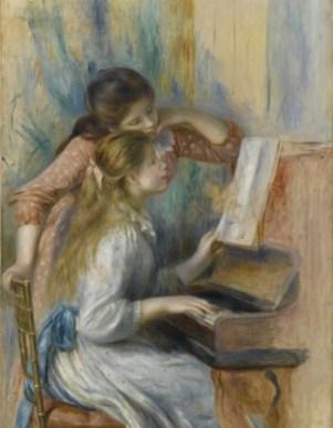 オーギュスト・ルノワール 《ピアノを弾く少女たち》1892 年頃 オランジュリー美術館 ©RMN-Grand Palais (musée de l´Orangerie) / Franck Raux