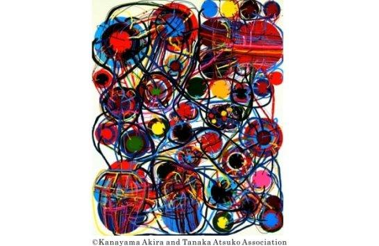 田中敦子《作品67E》1967年 横浜美術館蔵 ©Kanayama Akira and Tanaka Atsuko Association