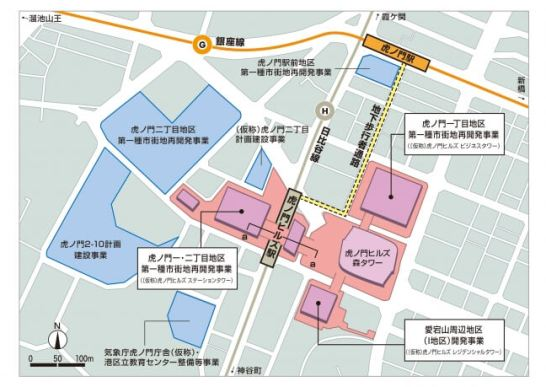 駅周辺平面図